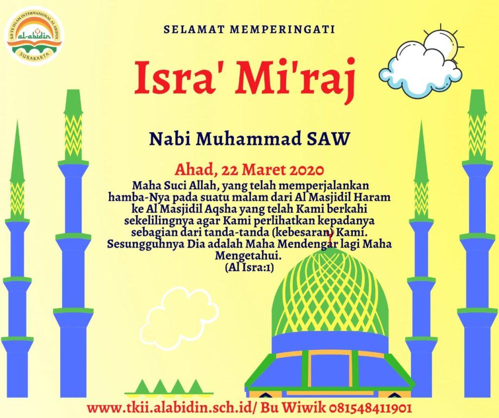 Isra Mi Raj Nabi Muhammad Saw Tkii Al Abidin